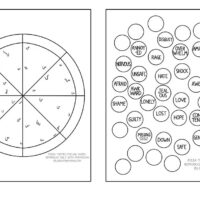 Pizza Themed Feeling Wheel Interactive Worksheet by Lindsay Braman