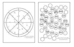 Pizza Themed Feeling Wheel Interactive Worksheet by Lindsay Braman