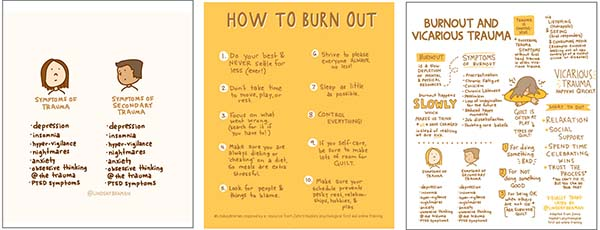 A three page pack of resources on burnout