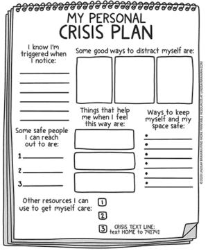 Blank Safety Plan – Free Printable Crisis Plan