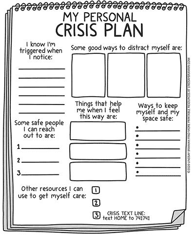 Blank Crisis Plan Printable