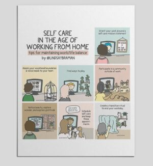 Work From Home Self Care Mini-Poster