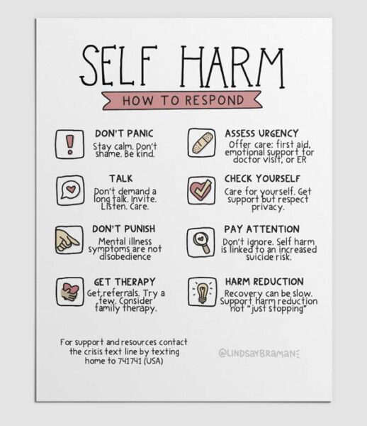 ways to respond to self harm