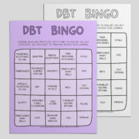 DBT Bingo Skills Tracking Card