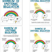 Rainbow of Emotional Regulation - Educational Illustrations by Lindsay Braman