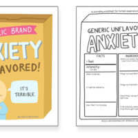 Generalized Anxiety Art + Worksheet with Journaling Prompts
