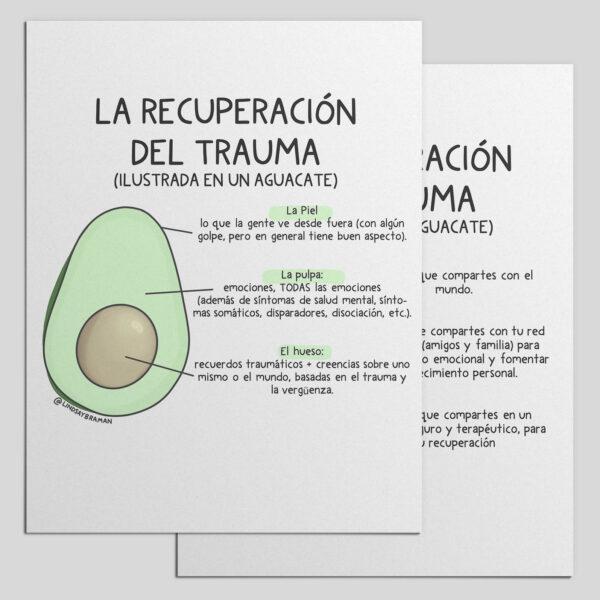 Mockup of Spanish language mental health handouts