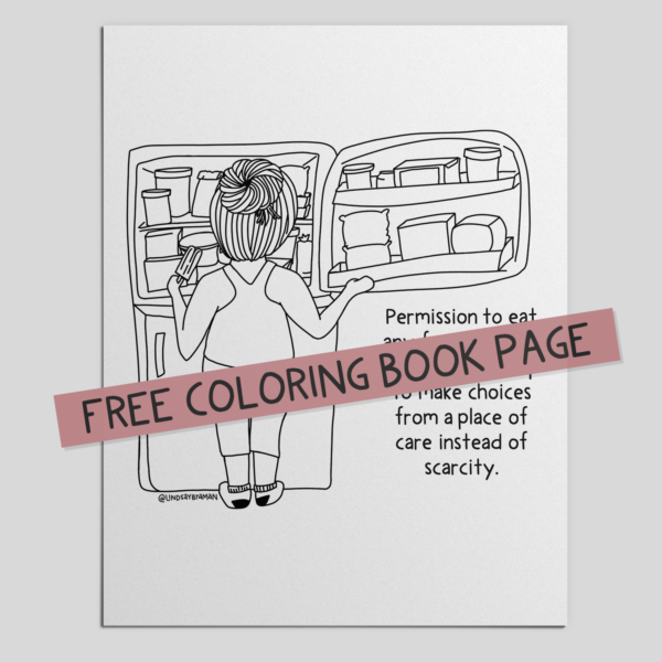 Intuitive Eating Coloring Page